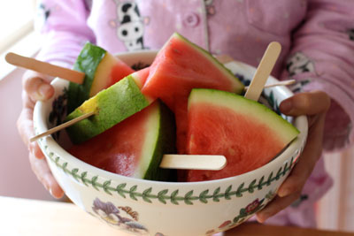 Watermelon 'ice cream' treats