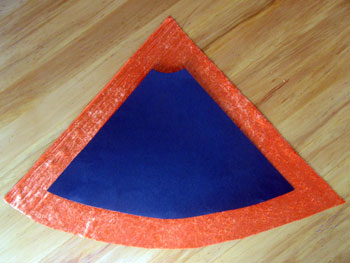 Cut off the top 6cm (1 ½ inches) of the cardboard cone.