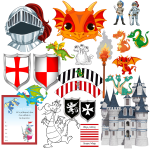 Printable Party Pack – Dragons & Knights