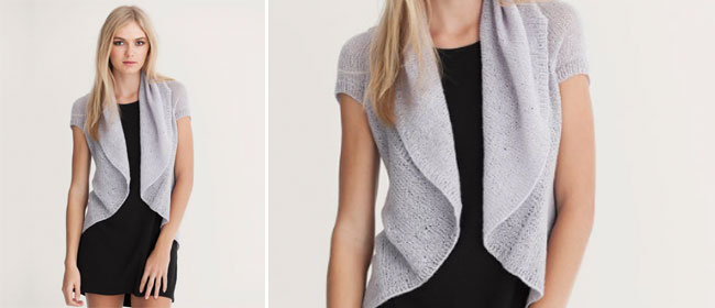 Knitted-cardigan