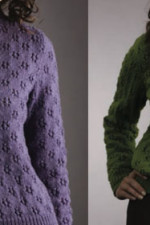 Knit an eyelet sweater or cardigan