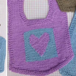 Cute knitted bibs
