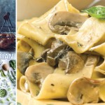 Pappardelle with rich mushroom sauce