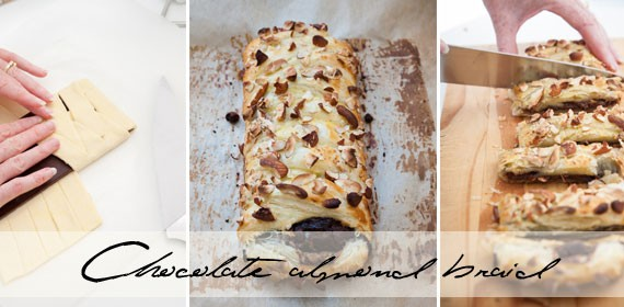 Chocolate almond braid