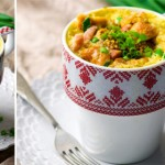 1-minute quiche in a mug
