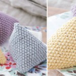Debbie Bliss' knitted lavender bags