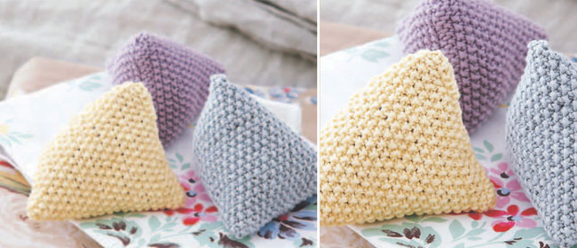 Knitting Pattern Lavender Bag : Debbie Bliss  knitted lavender bags