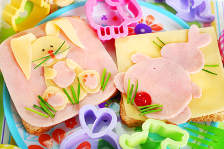 easter sandwiches with bunny for kids