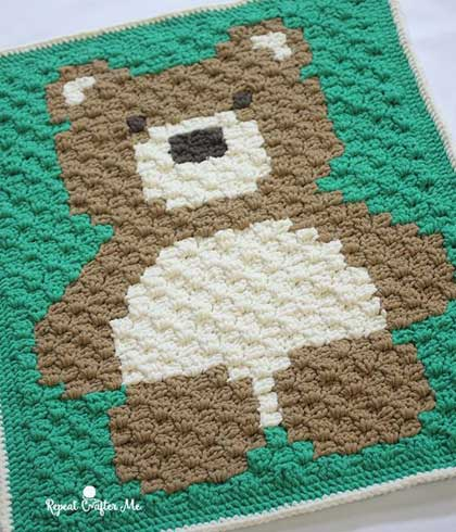 crochet-blanket-bear