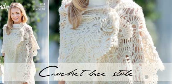 Crochet lace stole DIY