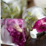 Fancy floral ice cubes