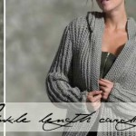 Knit  an ankle-length cardigan