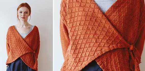 Knit a wrap-over cardigan