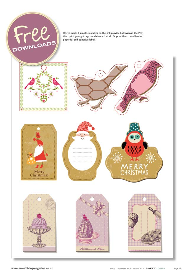Free printable christmas gift tags pdf