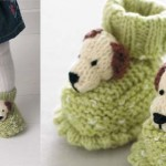 Free knitting pattern: doggie booties