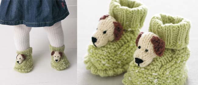 Free pattern for baby booties