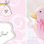 Free card for baby girl, plus cute cookies