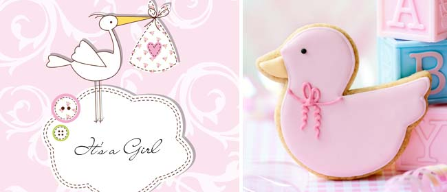 Free baby girl card to print