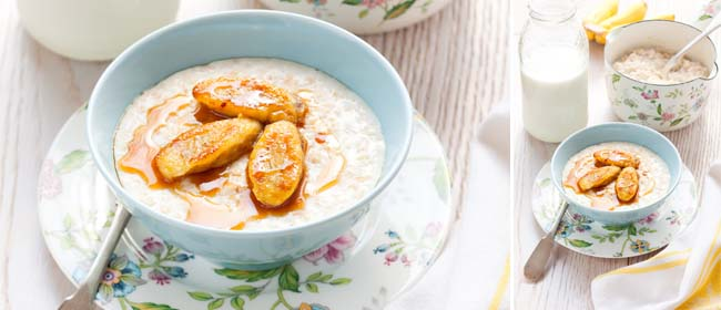 Banana cinnamon porridge