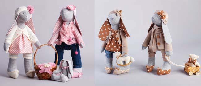 Make cute toy bunnies