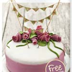 Free printable cake bunting for Mother's Day.