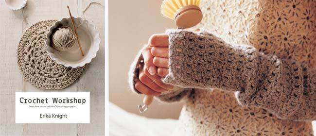 Crochet fingerless mittens DIY