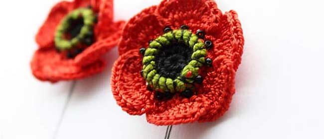 Crochet A Soldier Poppy