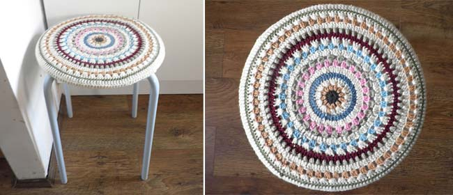 Crocheted Seat Cover