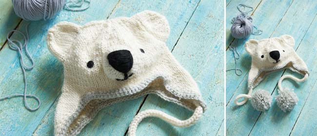 4d10d21e197 Knitted polar bear hat