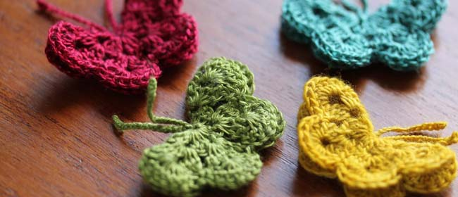 DIY crochet butterflies