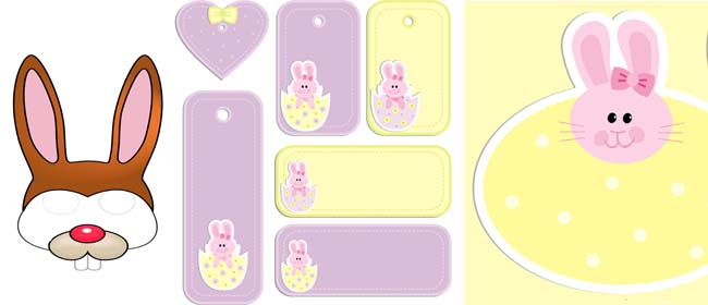 Free printable easter gift tags and bunny mask negle