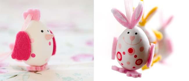 Eggshell bunnies for Easter