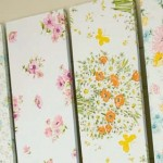 Make fabric covered shelves