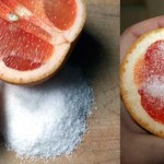 How to clean your shower or bathtub with grapefruit and salt