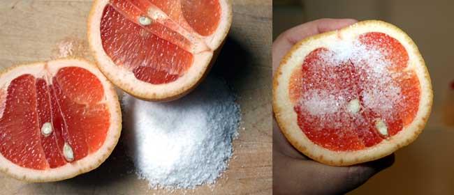 Grapefruit and salt cleaner