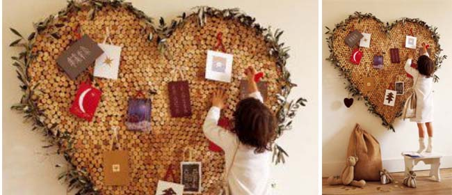 Heart shaped cork board for Heart shaped bulletin board