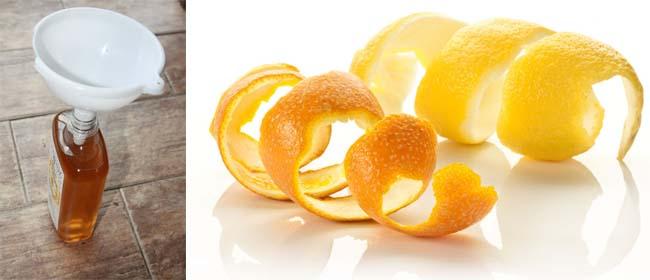 DIY Orange vinegar cleaner