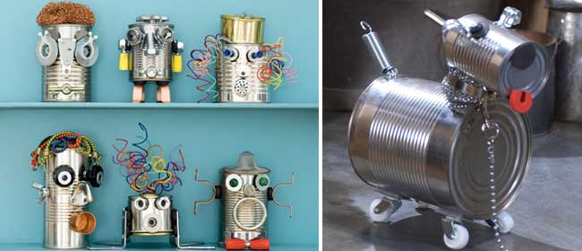 Robot DIY using tin cans