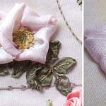Silk ribbon embroidery rose