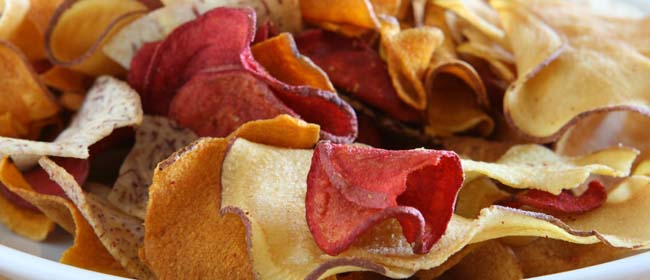 Oven baked vegetable chips