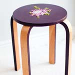 Cross-stitch stool