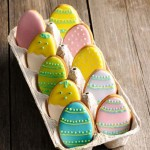 Easter egg cookies and icing tips