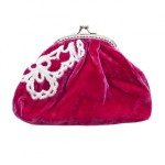 Tamsin Cooper velvet red purse